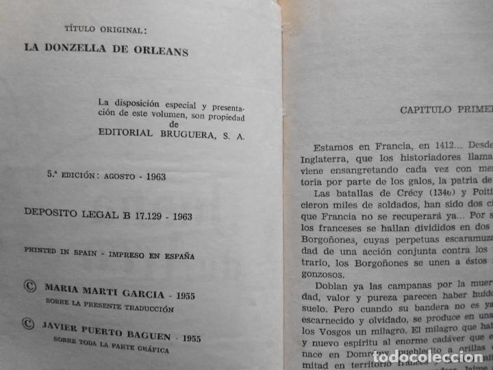 Libros antiguos: LOTE Nº 23 JUANA DE ARCO POR ALDO BRUNETTI EDICIONES BRUGERA - Foto 5 - 160051034