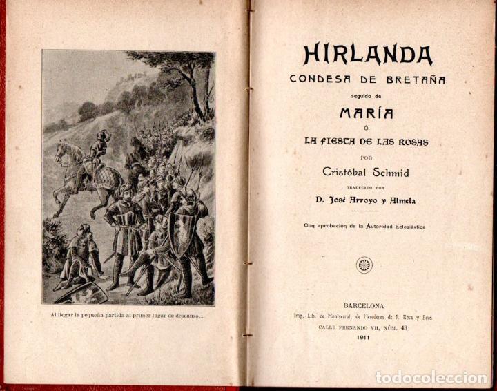 CRISTÓBAL SCHMID : HIRLANDA, CONDESA DE BRETAÑA (ROCA Y BROS, 1911) (Libros Antiguos, Raros y Curiosos - Literatura Infantil y Juvenil - Novela)