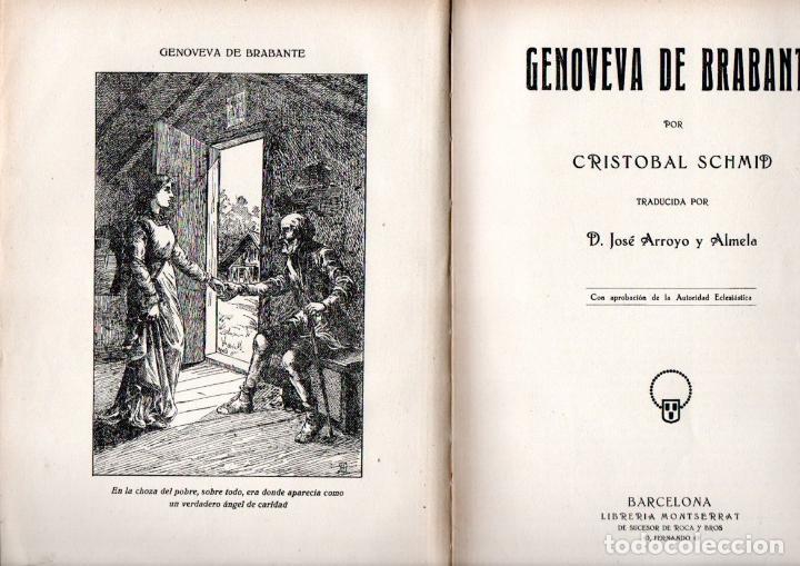 CRISTÓBAL SCHMID : GENOVEVA DE BRABANTE (SUC. DE ROCA Y BROS, S.F.) (Libros Antiguos, Raros y Curiosos - Literatura Infantil y Juvenil - Novela)