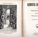 Libros antiguos: CRISTÓBAL SCHMID : GENOVEVA DE BRABANTE (SUC. DE ROCA Y BROS, S.F.). Lote 160166038