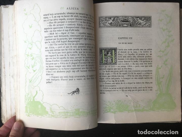 Libros antiguos: ALICIA EN TERRA DE MERAVELLES - LEWIS CARROLL - LOLA ANGLADA - Ed. MENTORA - Foto 8 - 160689710