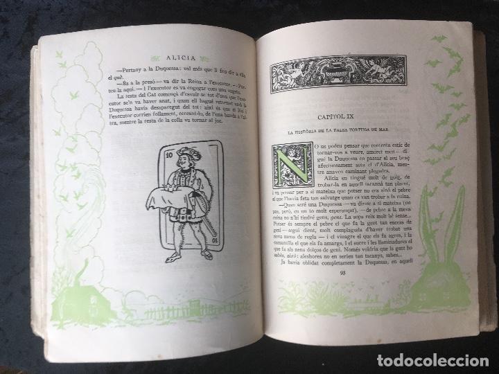 Libros antiguos: ALICIA EN TERRA DE MERAVELLES - LEWIS CARROLL - LOLA ANGLADA - Ed. MENTORA - Foto 9 - 160689710