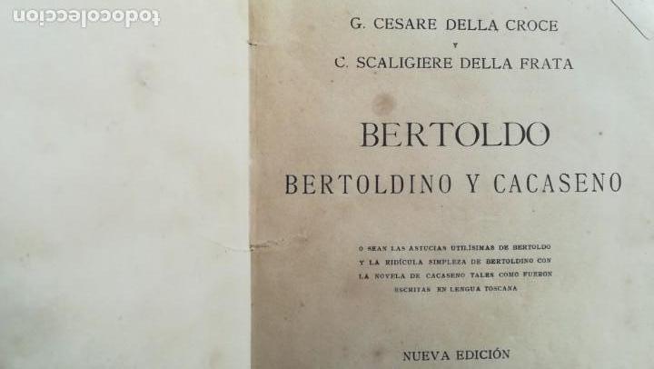BERTOLDO, BERTOLDINO Y CACASENO FF, SIGLO XIX (Libros Antiguos, Raros y Curiosos - Literatura Infantil y Juvenil - Novela)