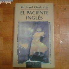 Libros antiguos: LIBRO , EL PACIENTE INGLÉS. Lote 164730046