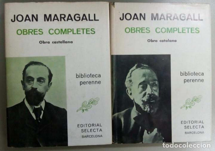 JOAN MARAGALL OBRAS COMPLETAS EN CATALAN Y EN CASTELLANO, 2 TOMOS, AÑO 1981, L11504 (Libros Antiguos, Raros y Curiosos - Literatura Infantil y Juvenil - Novela)