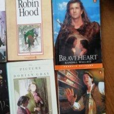 Libros antiguos: BRAVEHEART. ROBIN HOOD. PICTURE OF DORIAN GRAY, MOONFLEET DE PENGUIN BOOKS. LIBROS EN INGLES NIVELES. Lote 168244476