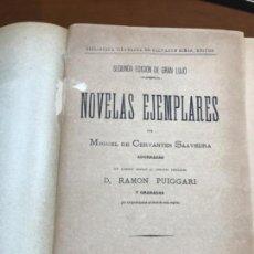 Libros antiguos: NOVELAS EJEMPLARES, EDICION GRAN LUJO 1883. Lote 168322500