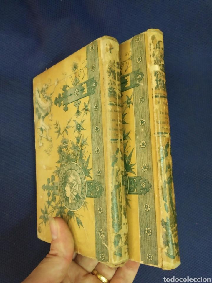 Libros antiguos: UN DRAMA EN EL OCEANO PACIFICO. SALGARI. 2 TOMOS. AUTORES CELEBRES. Calleja. Madrid, Princ. S.XX - Foto 2 - 171529412