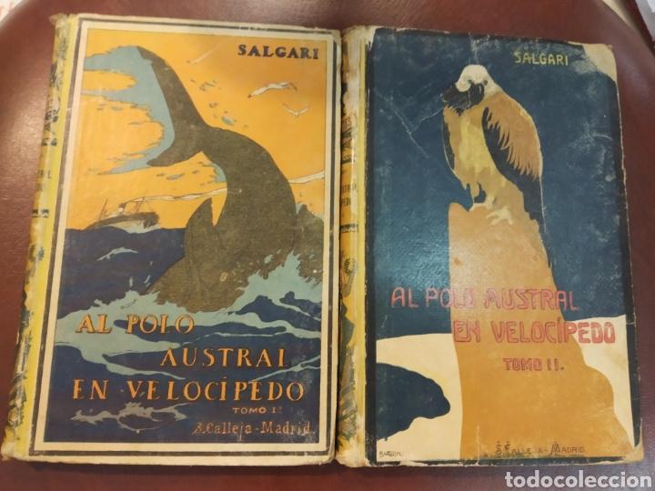 AL POLO AUSTRAL EN VELOCIPEDO. 2 TOMOS. AUTORES CELEBRES 205-6. CALLEJA. MADRID, PRINC. S.XX (Libros Antiguos, Raros y Curiosos - Literatura Infantil y Juvenil - Novela)