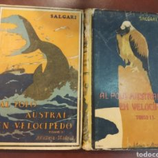 Libros antiguos: AL POLO AUSTRAL EN VELOCIPEDO. 2 TOMOS. AUTORES CELEBRES 205-6. CALLEJA. MADRID, PRINC. S.XX. Lote 171528873