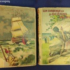Libros antiguos: UN DRAMA EN EL OCEANO PACIFICO. SALGARI. 2 TOMOS. AUTORES CELEBRES. CALLEJA. MADRID, PRINC. S.XX. Lote 171529412