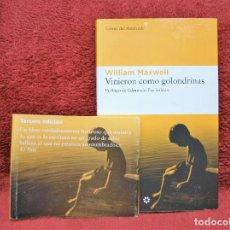 Libros antiguos: VINIERON COMO GOLONDRINAS WILLIAM MAXWELL LIBROS DEL ASTEROIDE. Lote 171705037