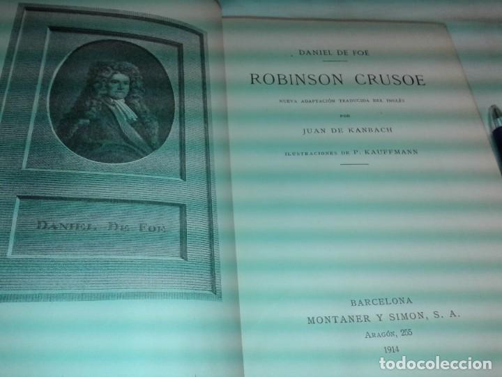 Libros antiguos: ROBINSON CRUSOE, 1914, DANIEL DE FOE - Foto 2 - 171716652