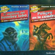 Libros antiguos: EL CLUB DETECTIVE: 2 EL AULLIDO DEL HOMBRE LOBO Y 4 PELIGRO EN LA CUADRA. Lote 172638500