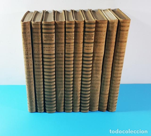 VISIONS BARCELONINES 1760-1860 FRANCESC CURET, DIBUJOS LOLA ANGLADA, DALAMAU I JOVER 1954, 10 TOMOS (Libros Antiguos, Raros y Curiosos - Literatura Infantil y Juvenil - Novela)