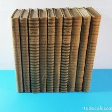 Libros antiguos: VISIONS BARCELONINES 1760-1860 FRANCESC CURET, DIBUJOS LOLA ANGLADA, DALAMAU I JOVER 1954, 10 TOMOS. Lote 173637517