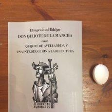Libros antiguos: QUIJOTE DE CERVANTES Y AVELLANEDA. INTRODUCCIÓN A LA RELECTURA DE RUIZ DE GOPEGUI. Lote 265835124