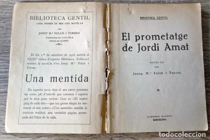 Libros antiguos: El Prometatge de Jordi Amat - Foto 2 - 174294242