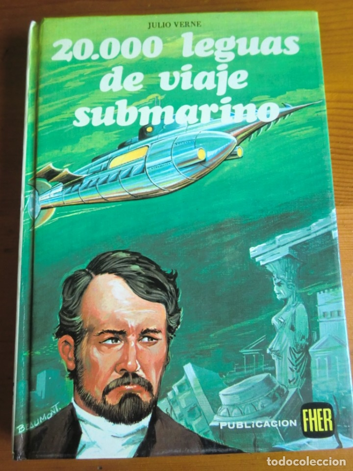 LIBRO 20000 LEGUAS DE VIAJE SUBMARINO (1984) DE JULIO VERNE. EDITORIAL FHER. COMO NUEVO (Libros Antiguos, Raros y Curiosos - Literatura Infantil y Juvenil - Novela)