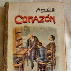 Libros antiguos: CORAZÓN-DIARIO DE UN NIÑO-DE EDMUNDO DE AMICIS-1887-TRAD DE GINER DE LOS RÍOS-ED HERNANDO-MADRID. Lote 175979299