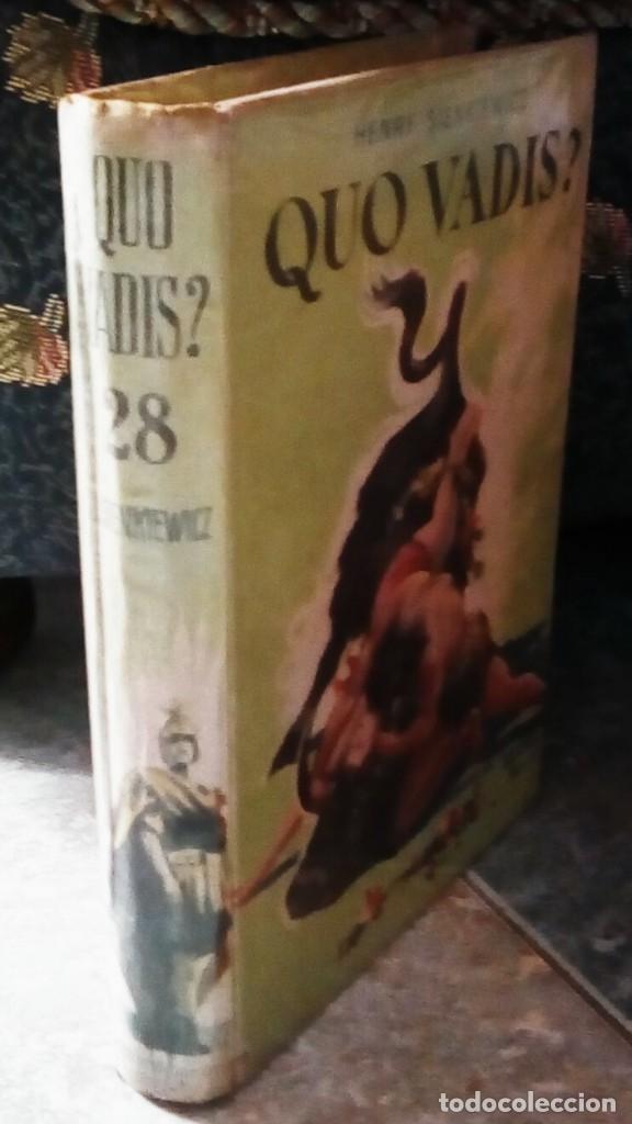 Libros antiguos: Quo Vadis?, de Henry Sienkiewicz. Colección Juvenil Cadete de la Editorial Mateu (1950 aprox.) - Foto 2 - 176205095