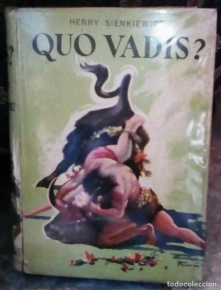 Libros antiguos: Quo Vadis?, de Henry Sienkiewicz. Colección Juvenil Cadete de la Editorial Mateu (1950 aprox.) - Foto 6 - 176205095
