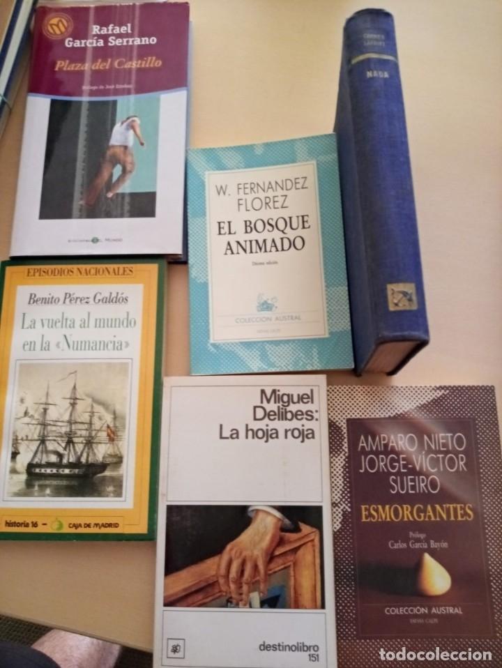 LOTE DE 6 LIBROS LITERATURA (Libros Antiguos, Raros y Curiosos - Literatura Infantil y Juvenil - Novela)