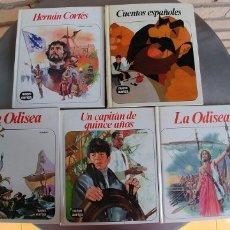 Libros antiguos: LIBROS-LOTE 5 LIBROS- COLECCION NUEVO AURIGA-TAPA DURA-AÑO 1978-1982-1991,BUEN ESTADO,. Lote 176363332