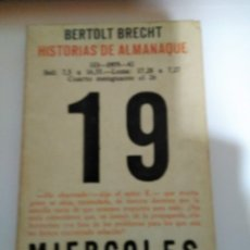 Libros antiguos: HISTORIAS DE ALMANAQUE BERTOLT BRECHT. Lote 181565701