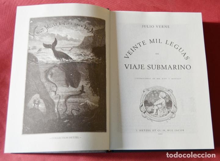 Libros antiguos: VEINTE MIL LEGUAS DE VIAJE SUBMARINO - JULIO VERNE - CON ILUSTRACIONES - Foto 3 - 183073843