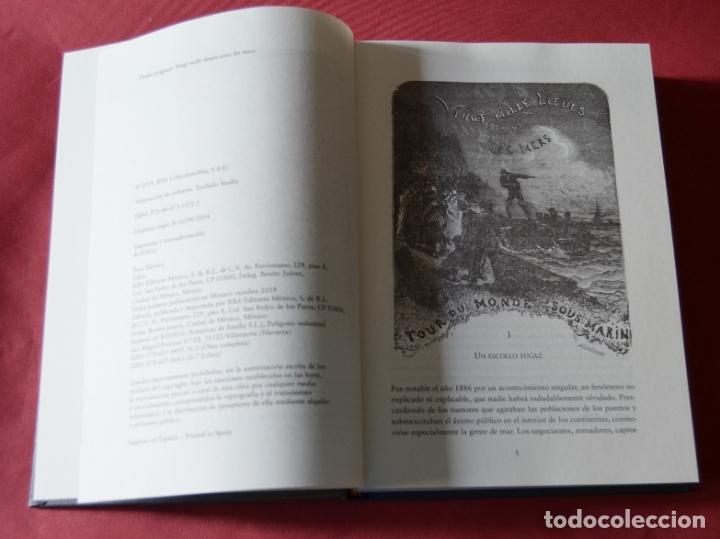 Libros antiguos: VEINTE MIL LEGUAS DE VIAJE SUBMARINO - JULIO VERNE - CON ILUSTRACIONES - Foto 4 - 183073843