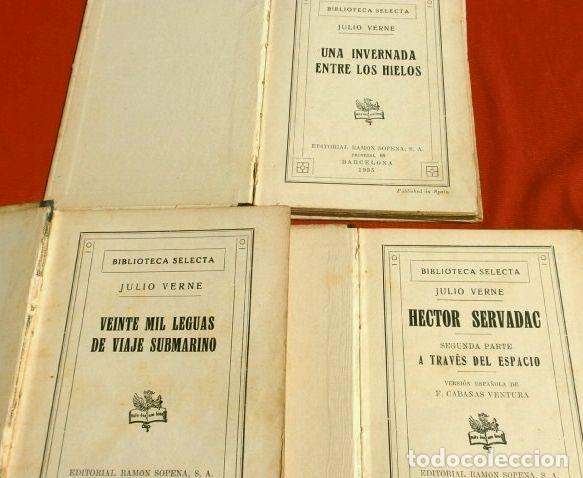 Libros antiguos: JULIO VERNE, 3 obras (1935) HECTOR SERVADAC, UNA INVERNADA.. LEGUAS VIAJE SUBMARINO, ED. R. SOPENA - Foto 2 - 183321438