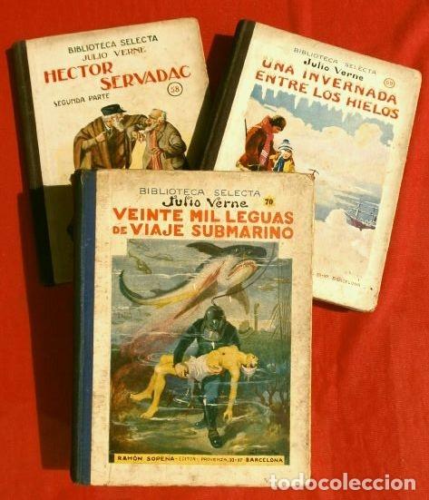 Libros antiguos: JULIO VERNE, 3 obras (1935) HECTOR SERVADAC, UNA INVERNADA.. LEGUAS VIAJE SUBMARINO, ED. R. SOPENA - Foto 3 - 183321438