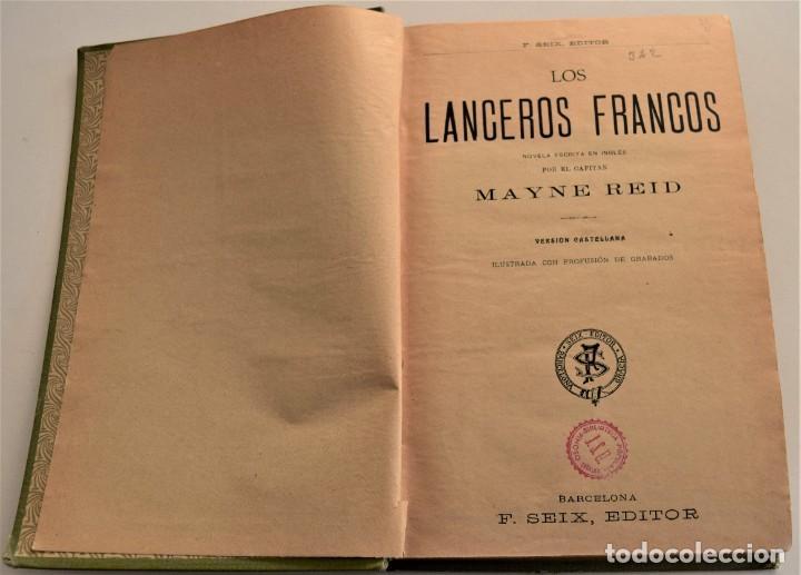 Libros antiguos: EN TIERRA Y EN MAR, AVENTURAS MARAVILLOSAS - OBRAS COMPLETAS DEL CAPITÁN MAYNE-REID - TOMO V - Foto 3 - 184021237