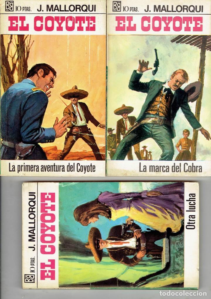 Libros antiguos: 83 NOVELAS DEL COYOTE EDITORIAL BURGUERA,1 EDICION MARZO 1970 A 2 EUROS LA UNIDAD - Foto 4 - 185681783