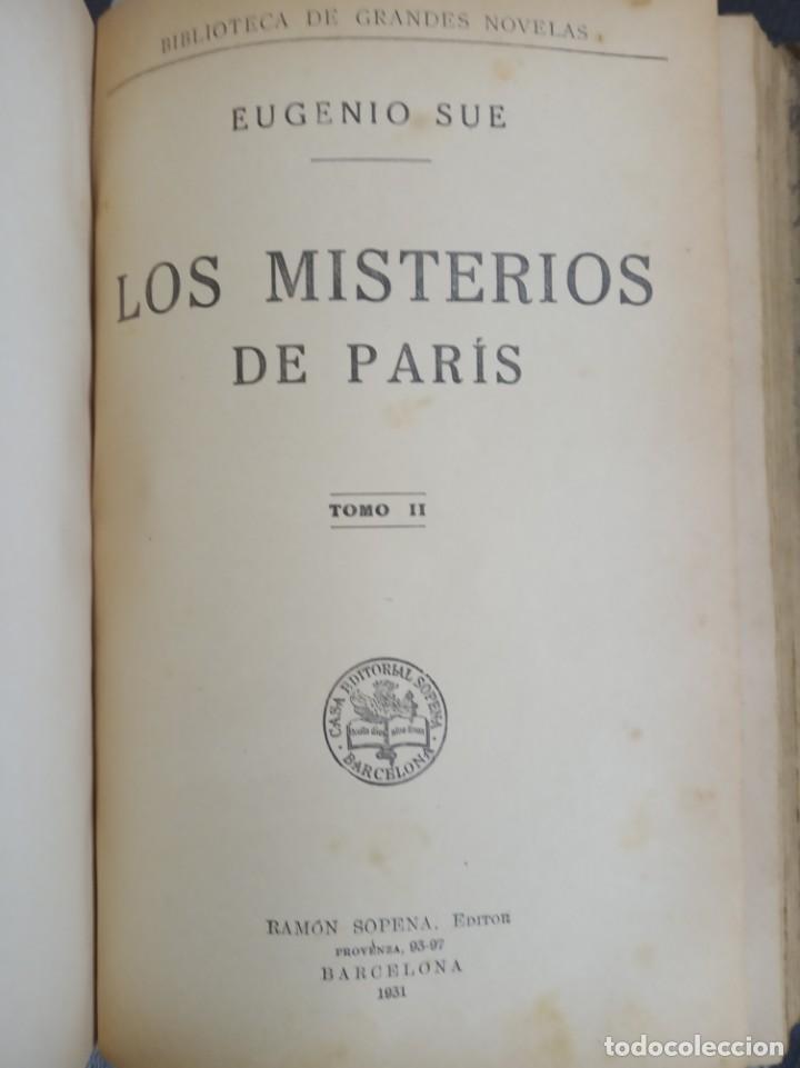 LOS MISTERIOS DE PARIS ( EUGENIO SUE ) RAMON SOPENA 1931 (Libros Antiguos, Raros y Curiosos - Literatura Infantil y Juvenil - Novela)