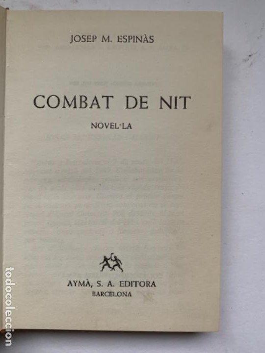 COMBAT DE NIT DE JOSEP M. ESPINÀS (Libros Antiguos, Raros y Curiosos - Literatura Infantil y Juvenil - Novela)