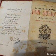 Libros antiguos: DON QUIJOTE DE LA MANCHA MIGUEL DE CERVANTES TOMO 1 Y 2 . AÑO 1881. Lote 188416395