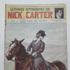 Libros antiguos: ULTIMOS EPISODIO DE NICK CARTER. NO. 15 - LA DAMA DEL ANTIFAZ.. Lote 191317091
