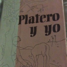 Libros antiguos: PLATERO Y YO JUAN RAMÓN JIMENEZ. Lote 191845077