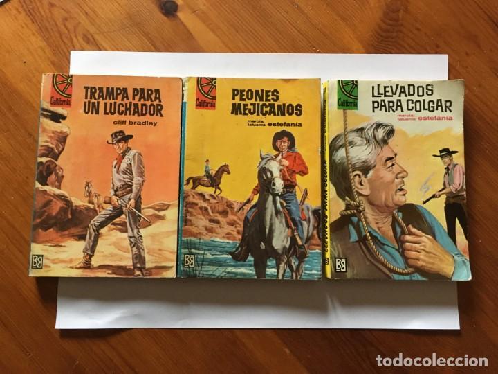 NOVELA DEL OESTE COLECCION CALIFORNIA LOTE 3 NOVELAS Nº 304-436-438 AÑO 1962 Y 1965 (Libros Antiguos, Raros y Curiosos - Literatura Infantil y Juvenil - Novela)