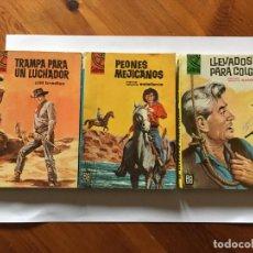 Libros antiguos: NOVELA DEL OESTE COLECCION CALIFORNIA LOTE 3 NOVELAS Nº 304-436-438 AÑO 1962 Y 1965. Lote 193796716