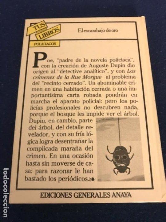 Libros antiguos: EL ESCARABAJO DE ORO. EDGAR ALLAN POE. COLECCIÓN TUS LIBROS. EDITORIAL ANAYA. 1ª ED. 1981. - Foto 6 - 193858205