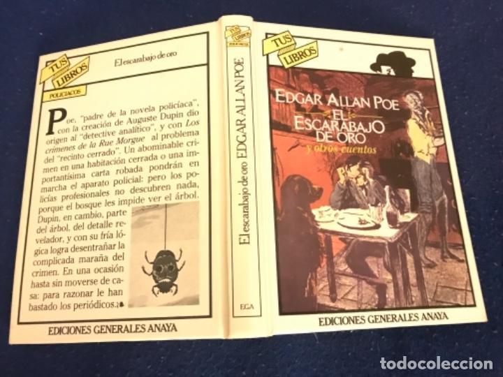Libros antiguos: EL ESCARABAJO DE ORO. EDGAR ALLAN POE. COLECCIÓN TUS LIBROS. EDITORIAL ANAYA. 1ª ED. 1981. - Foto 7 - 193858205