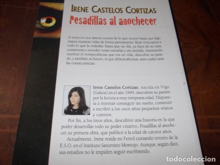 Libros antiguos: Pesadillas al anochecer, Irene Castelos Cortízas. Eride ediciones 1ª ed. marzo 2.009 - Foto 2 - 194081533