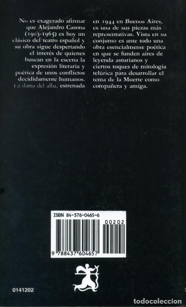 Libros antiguos: LA DAMA DE ALBA - ALEJANDREO CASONA - Foto 2 - 194113576