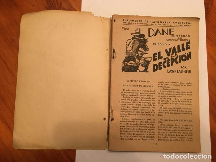 Libros antiguos: novela oeste DANE el terror de los cuatreros,volumen con 3 episodios nº 11-12-13- - Foto 4 - 194179087
