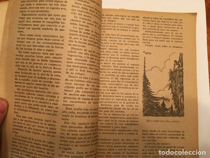 Libros antiguos: novela oeste DANE el terror de los cuatreros,volumen con 3 episodios nº 11-12-13- - Foto 5 - 194179087
