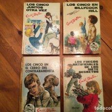 Libros antiguos: NOVELA LOS CINCO,DE ENID BLYTON AÑOS 1971- 72 -74-LOTE 4 NOVEL. Nº 11-25-39-42. Lote 194338358