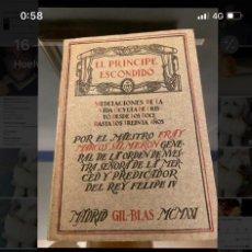 Libros antiguos: EL PRINCIPE ESCONDIDO.. Lote 194356053